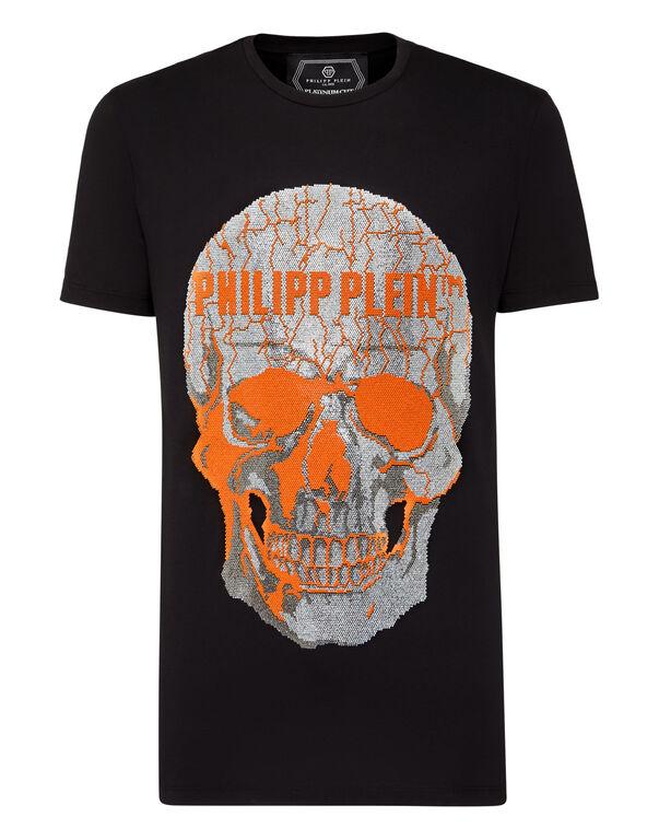 T-shirt Round Neck SS Skull strass