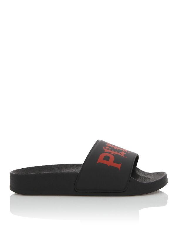 "Flat gummy sandals ""Rodrigo"""