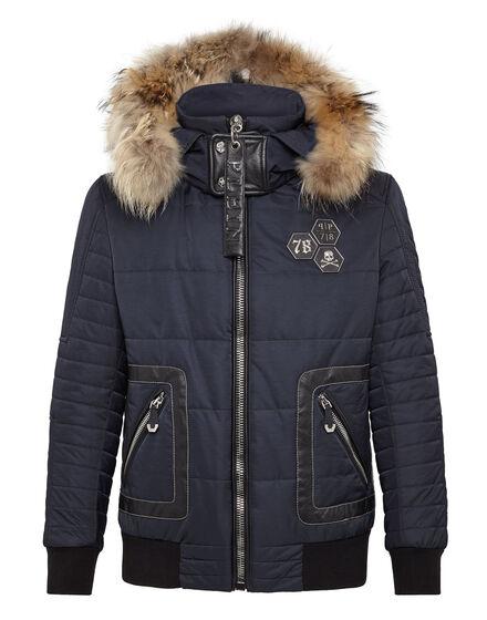 nylon jacket into the blue