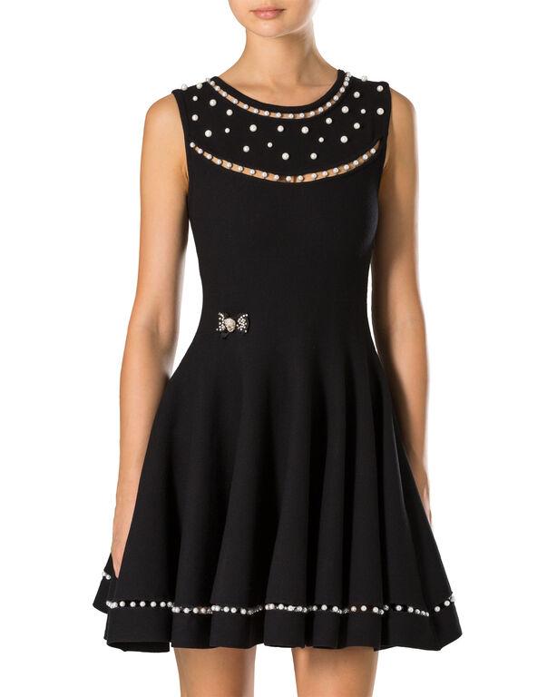 "Knit Day Dress ""Kiss Knot"""
