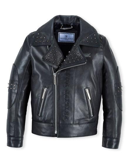 Leather Biker Black Circle