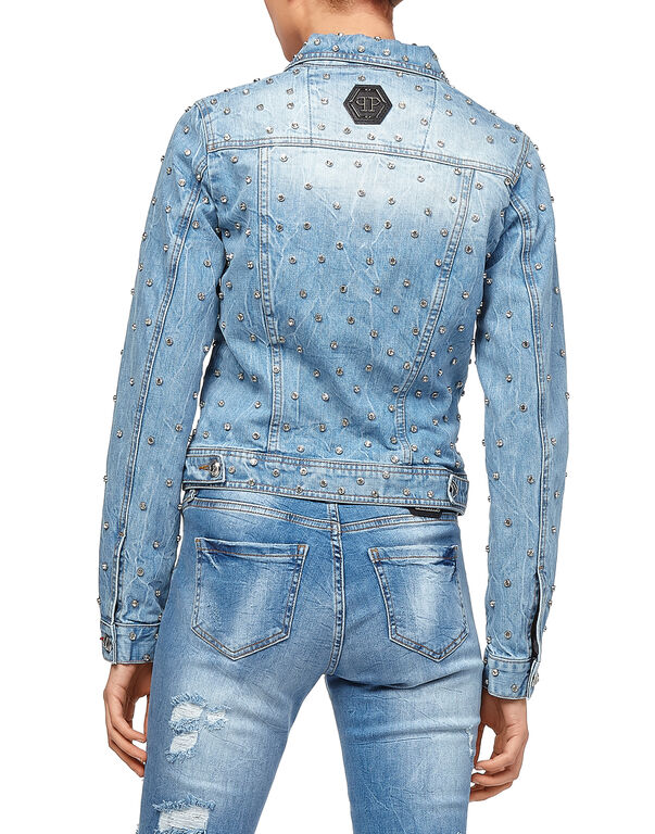 "Denim Jacket ""Crystals Mind"""