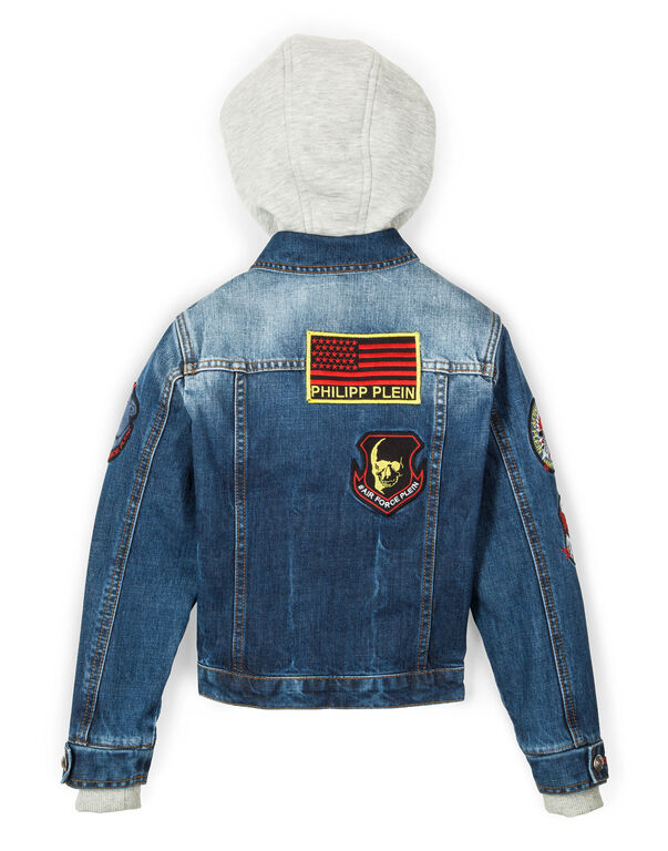 "denim jacket ""little guy"""