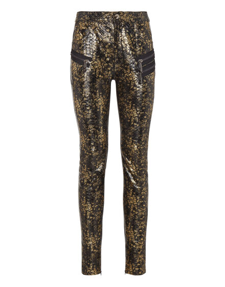 Leather Trousers Long Luxury