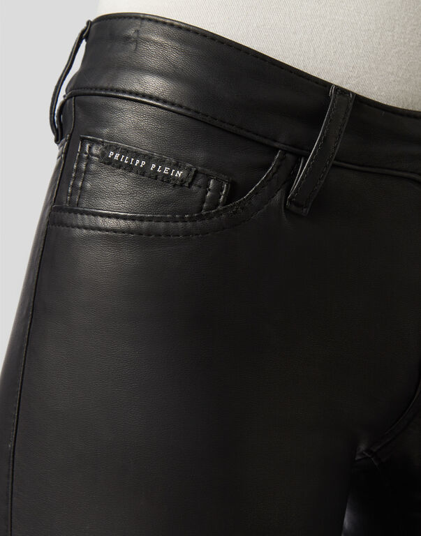 Leather Slim Trousers Original