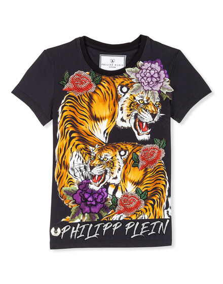 T-shirt Round Neck SS Tiger roses