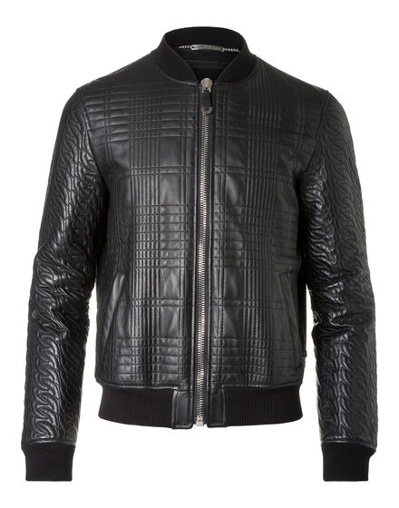 Leather Bomber President