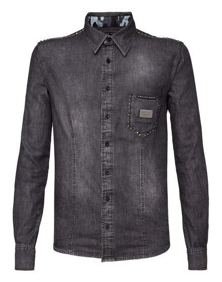 Denim Shirt Ls Studded