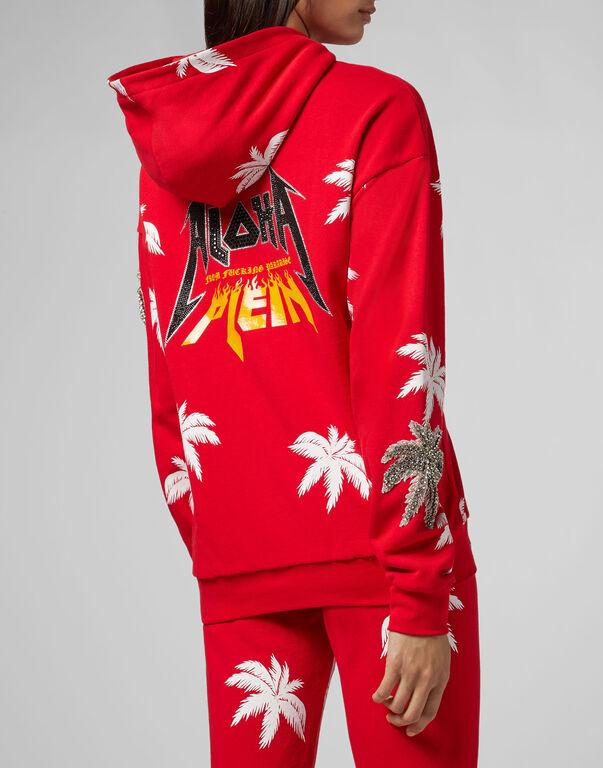Hoodie Sweatjacket Aloha Plein