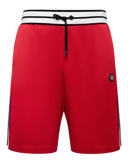 Satin Jogging Shorts Plein Star