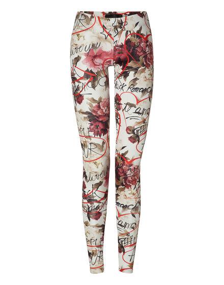 leggings red blossom
