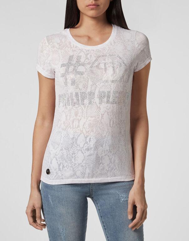 T-shirt Round Neck SS Destroyed