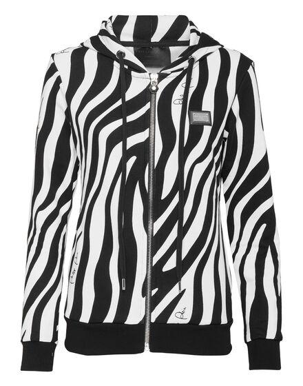 Hoodie Sweatjacket Zebra