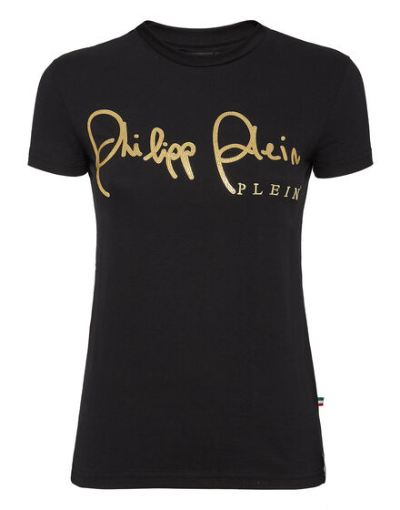 T-shirt Round Neck SS Gold signature