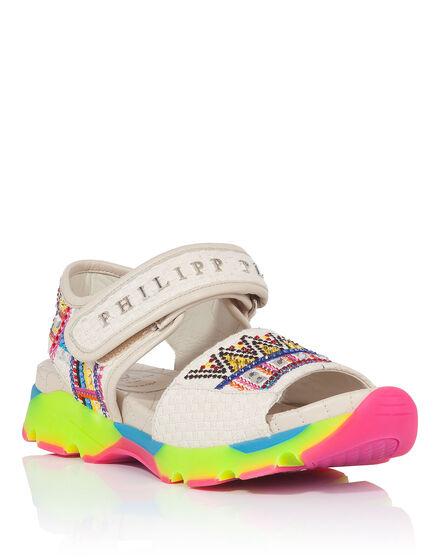 Sandals Wedges Aquamarine