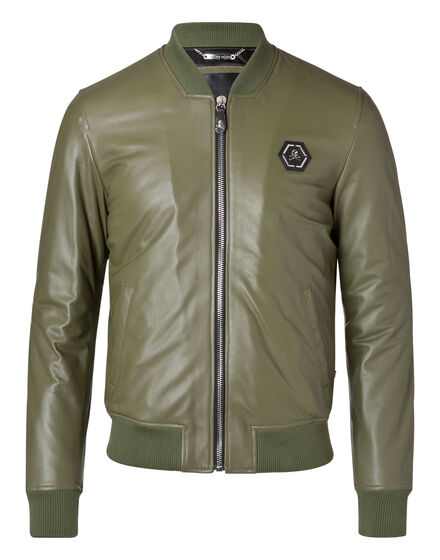 Leather Bomber Classic bomber