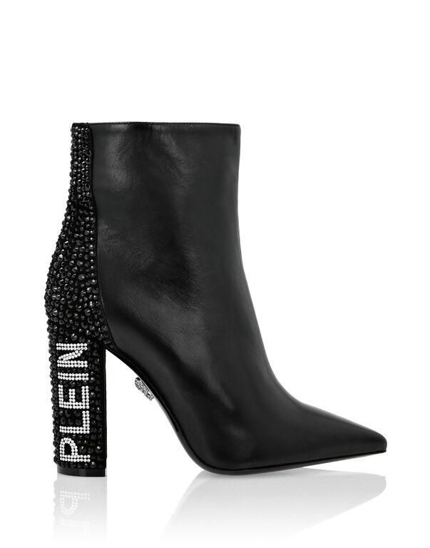 Boots High Heels Mid Crystal Plein