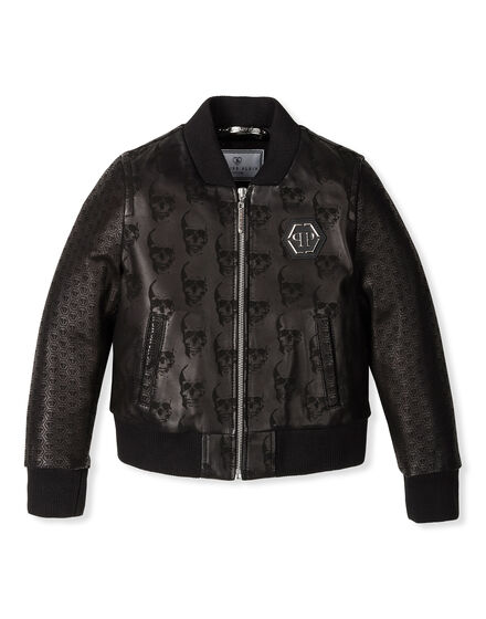 Leather Bomber Embossed