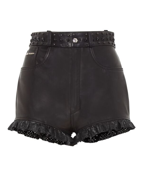 Leather Shorts Statement