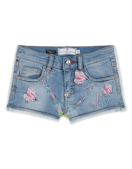 Denim shorts Snakes