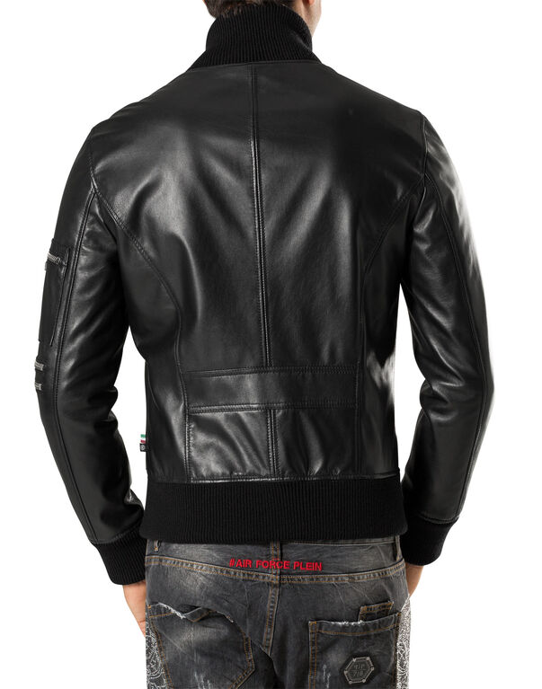 "leather jacket ""hey bomber"""