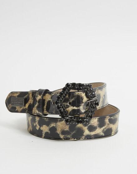 Patent Leather Belt Leopard
