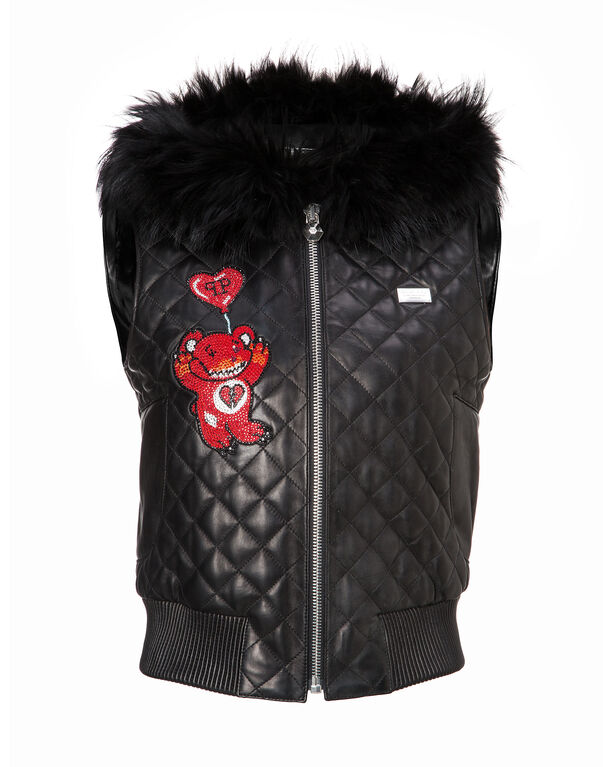 "Leather Vest Short ""Eastony"""