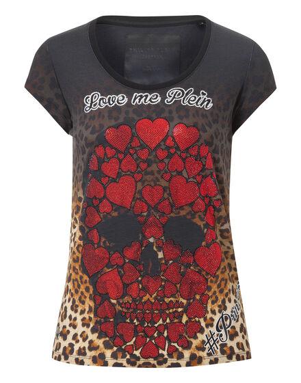 T-shirt Round Neck SS Black Dalia
