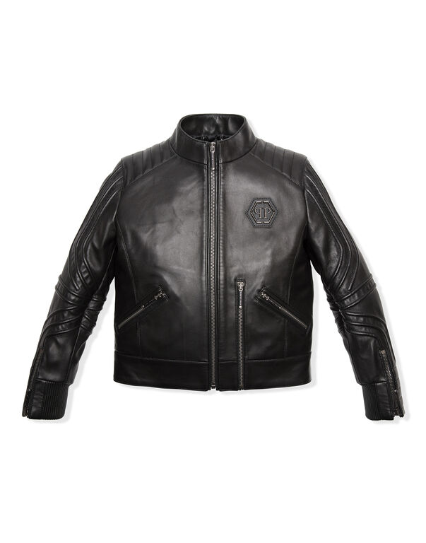"Leather Moto Jacket ""Relax"""