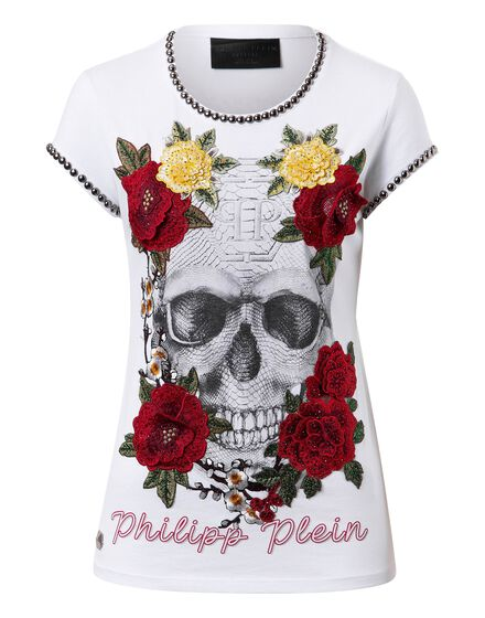 T-shirt Round Neck SS Yellow roses