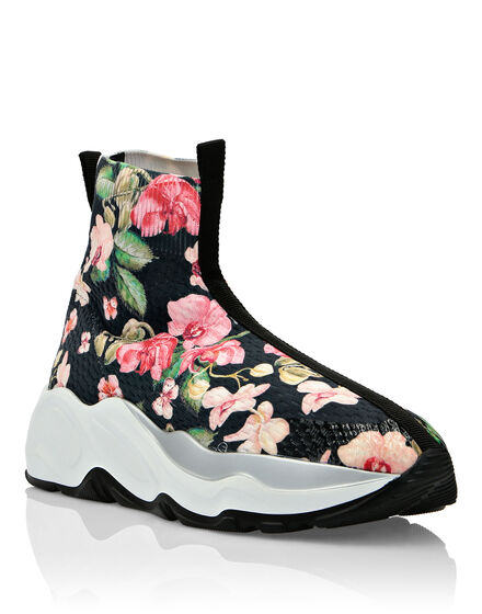 Hi-Top Sneakers Flowers