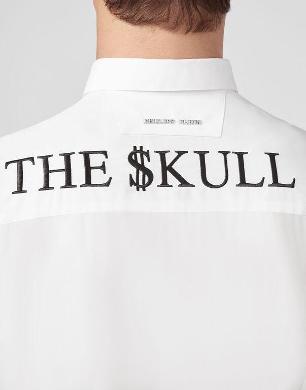 Shirt Diamond Cut LS  Outline Skull