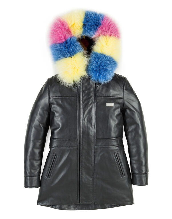 "Leather Parka ""Bright Color"""