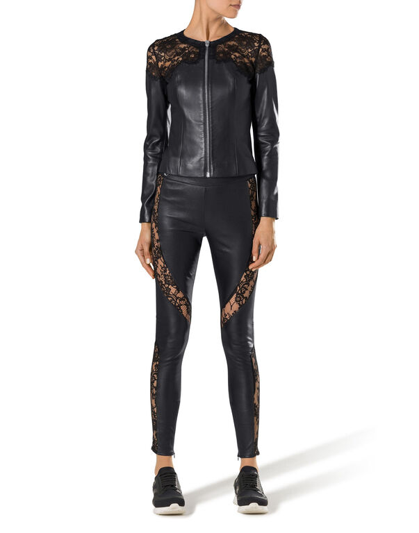 "leather pants ""criss-cross"""