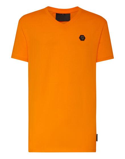 T-shirt V-Neck SS Hexagon tiger