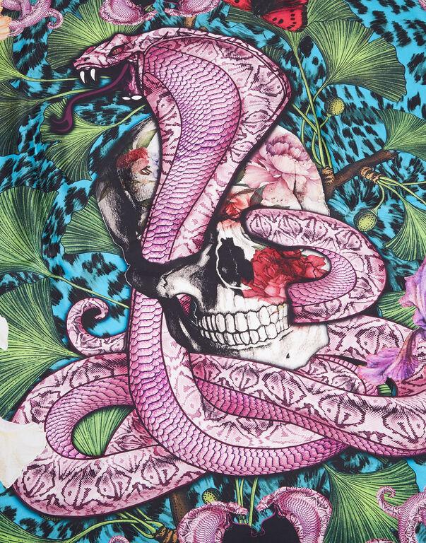 """Foulard """"Skull and roses"""""""
