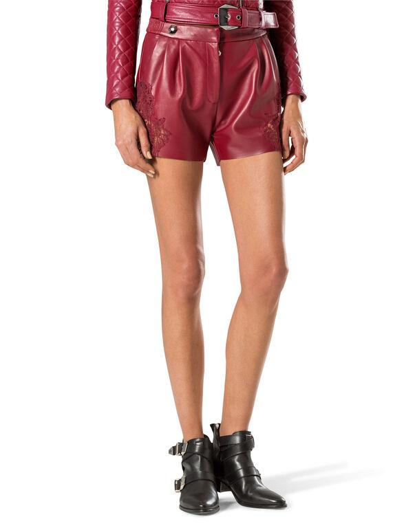 """leather shorts """"bad romance"""""""