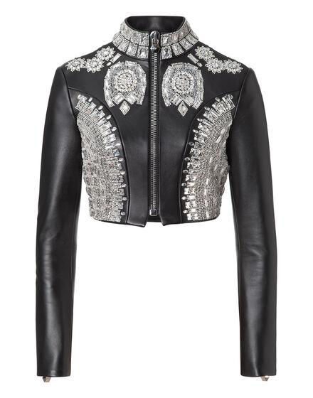 leather jaket bawl