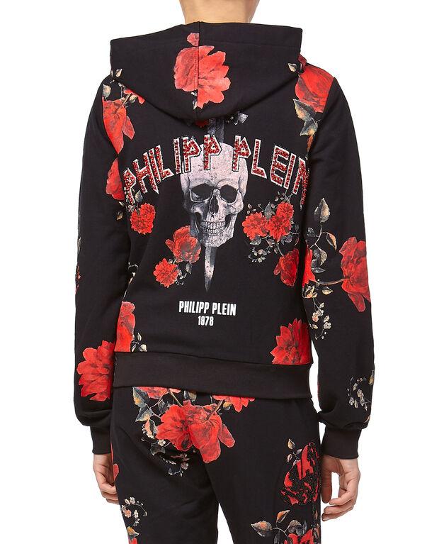 """Hoodie Sweatjacket """"Sweet Flowers"""""""