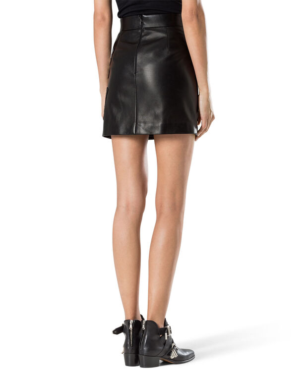 "leather skirt ""serafina"""