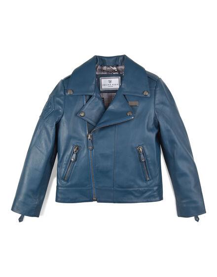 leather jacket baby punk