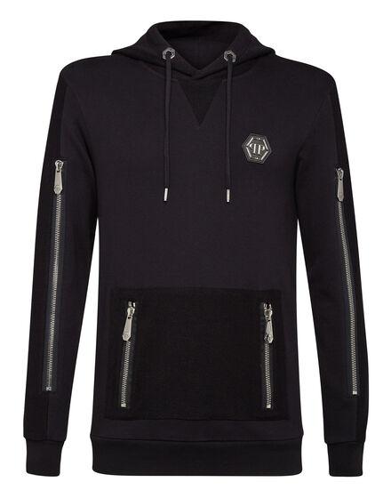 Hoodie sweatshirt Zipped