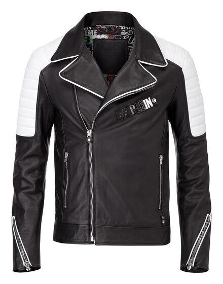 leather jacket open