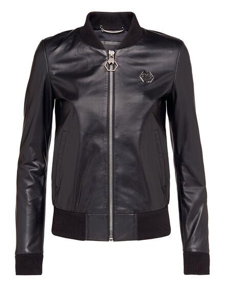 Leather Jacket Happy Mind