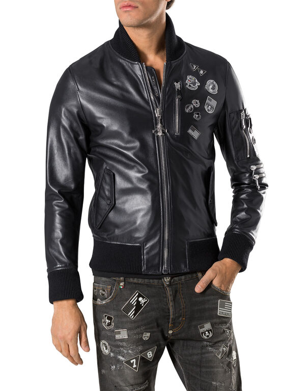 "leather bomber ""prize"""