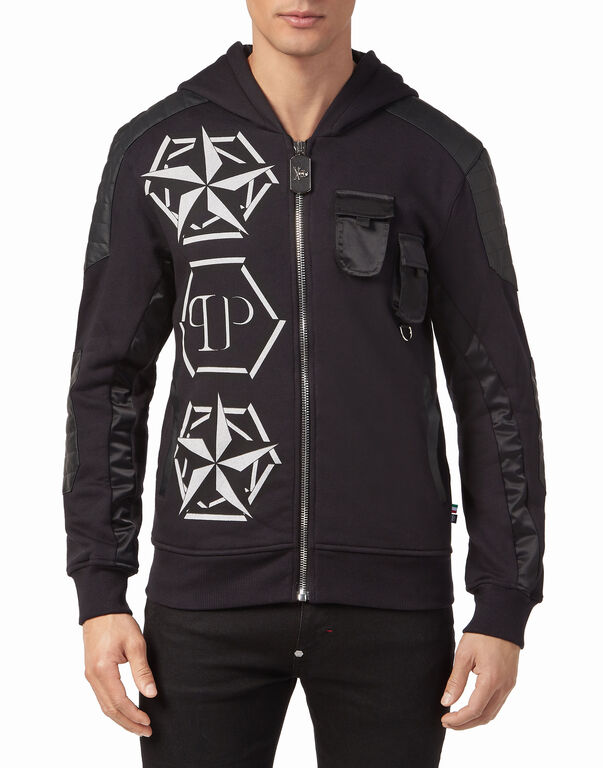 """hooded jacket """"strong man"""""""
