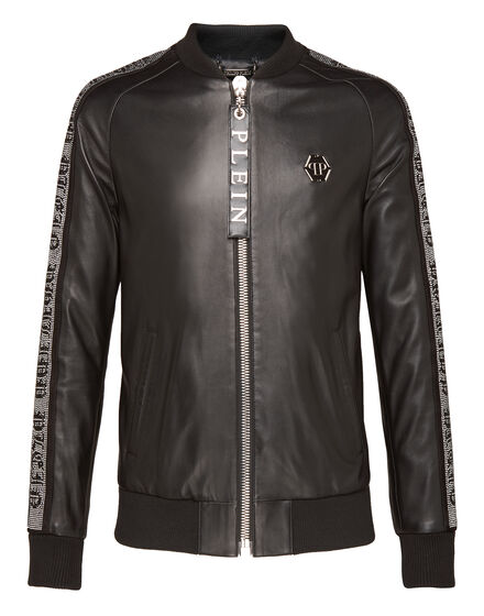 Leather Bomber Sparkling