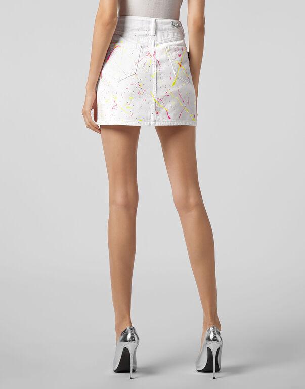 Denim Skirt Crystal