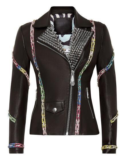 Leather Biker Crystal