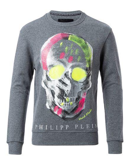 Sweatshirt LS Color skull